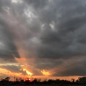 兵庫県西宮市のとある場所の夕方